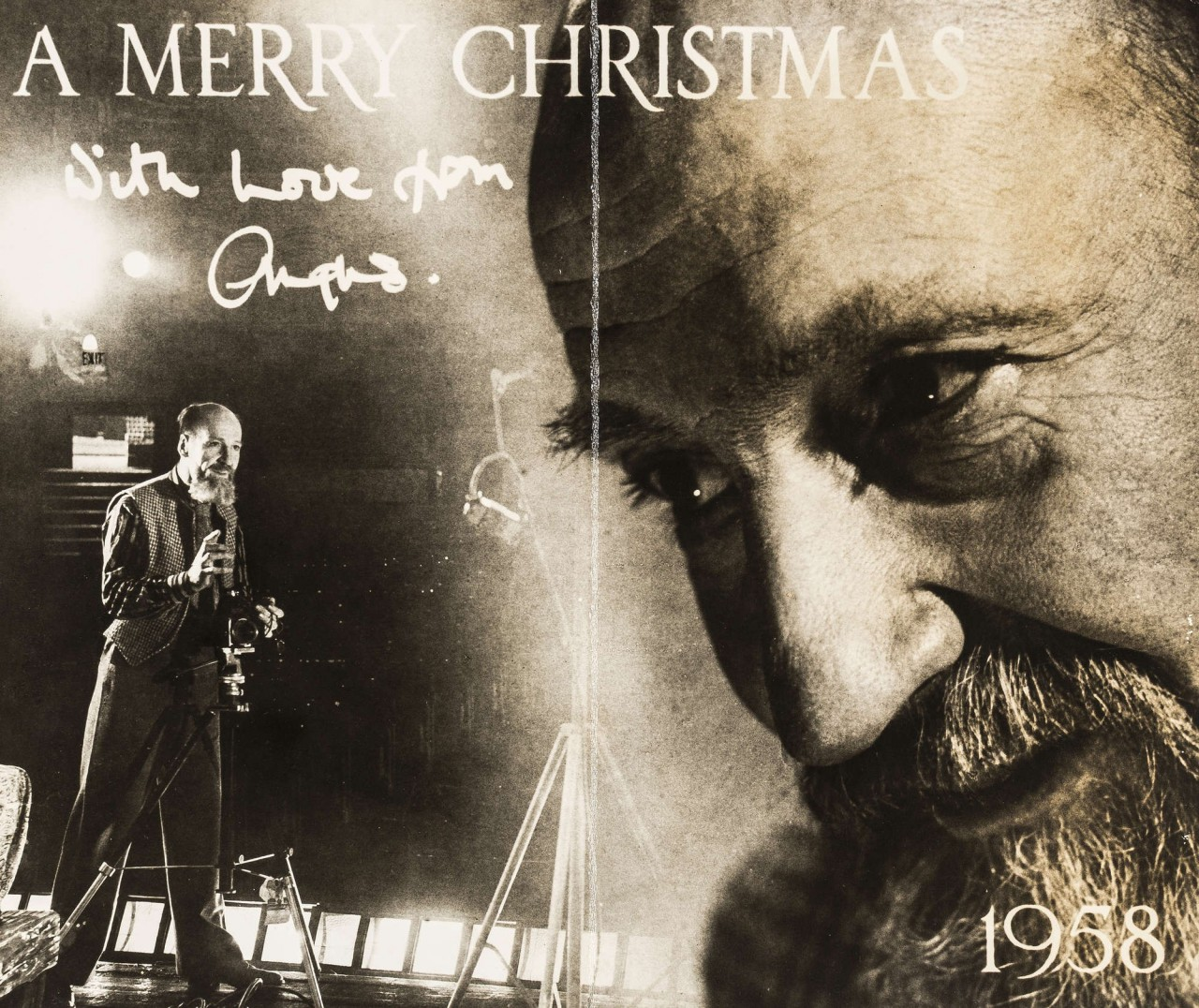 Рождественская открытка, 1958. Ангус МакБин
