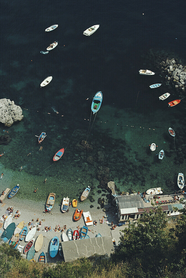 Побережье Амальфи, Италия, 1984. Фотограф Слим Ааронс