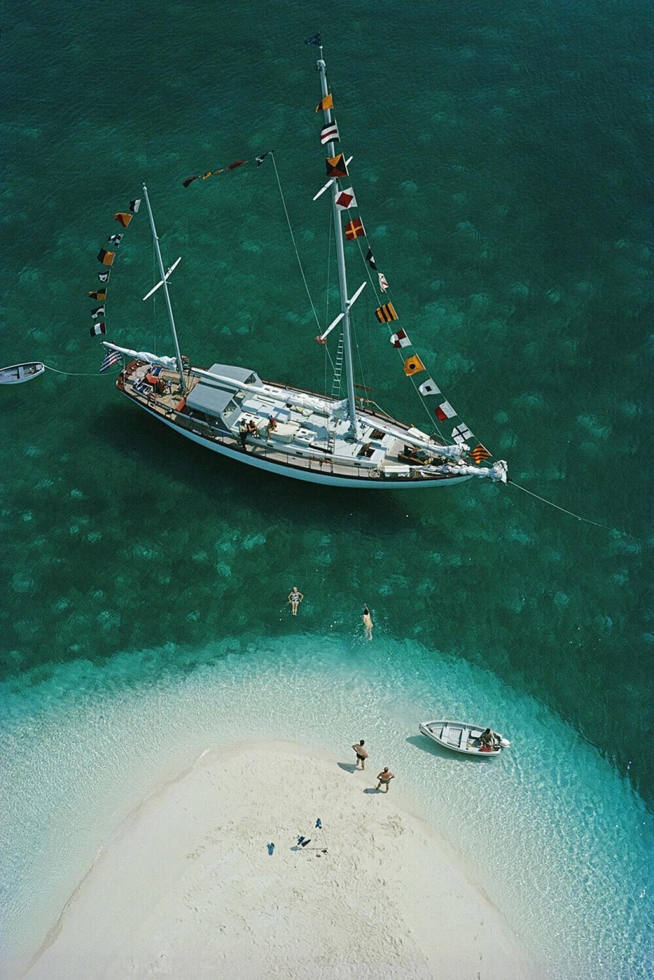 Яхтенный отдых, Багамы, 1964. Фотограф Слим Ааронс