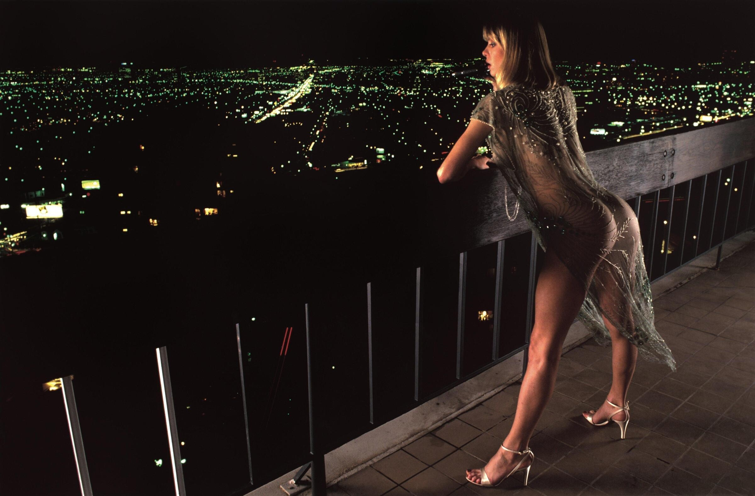 Моника Ст. Пьер, огни Лос-Анджелеса, июнь 1979 года. Фотограф Ричард Фегли