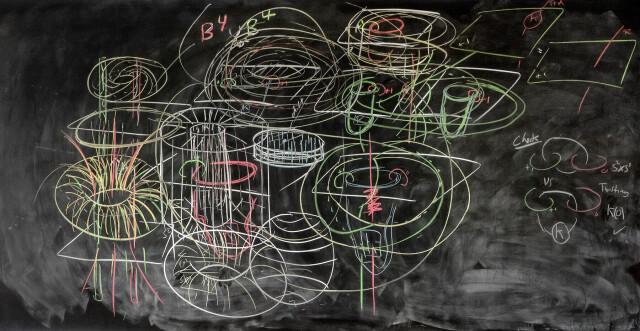 Классная доска с записями математиков как отдельный вид искусства