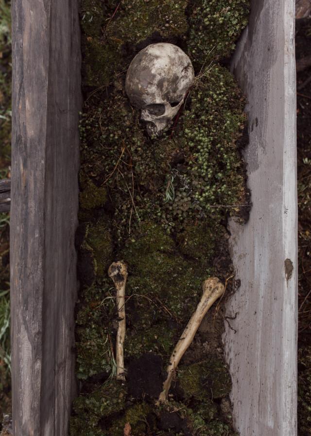 Останки шамана (реквизит) в мистической драме «Проклятая земля». Фотограф Алексей Васильев