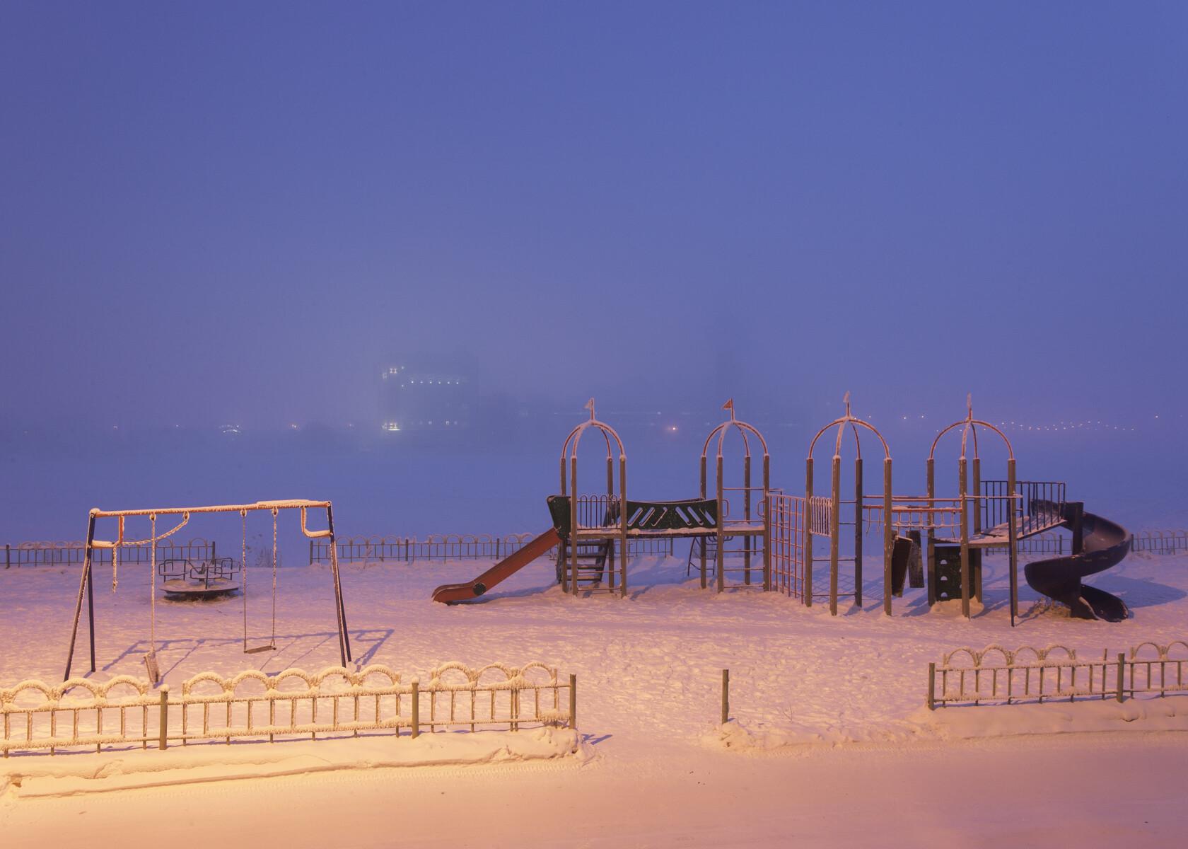 Детская площадка в Якутии. Фотограф Алексей Васильев