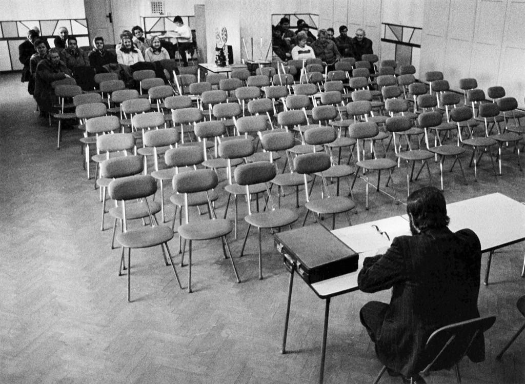 Заседание в совхозе в Ломнице, Чехия, 1988. Йиндржих Штрейт