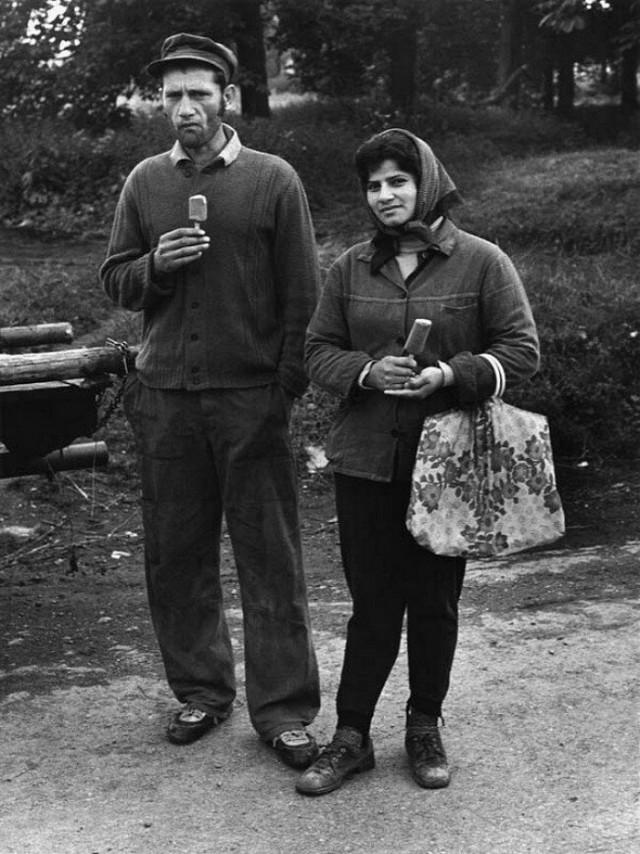 Пара с мороженым, Чехия. Йиндржих Штрейт