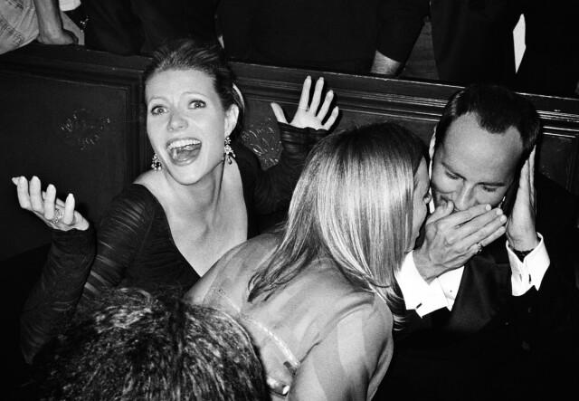 Гвинет Пэлтроу, Стелла Маккартни и Том Форд. Милан, 2002. Фотограф Марио Тестино