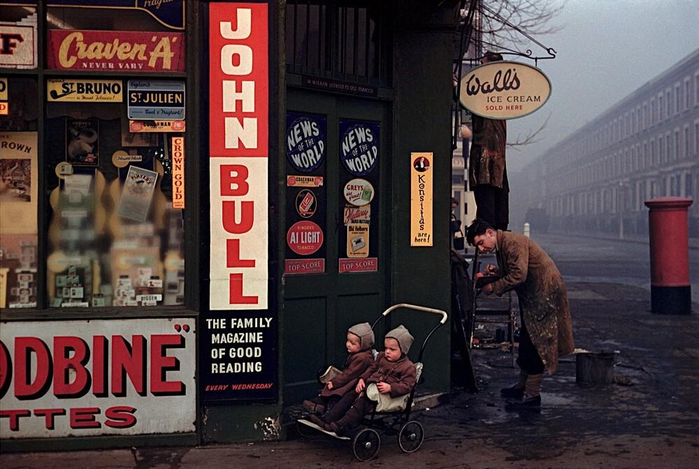 Лондон, 1954 год. Фотограф Инге Морат