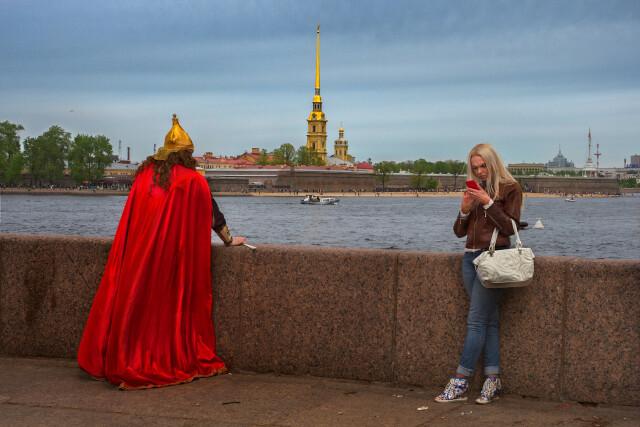 «Древнерусская тоска». День города, Санкт-Петербург, 2017. Фотограф Александр Петросян