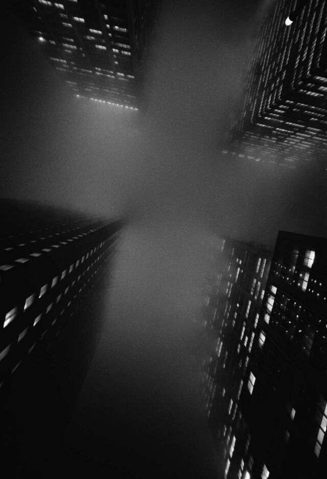 Перекрёсток, Нью-Йорк, 1966. Фотограф Эрнст Хаас