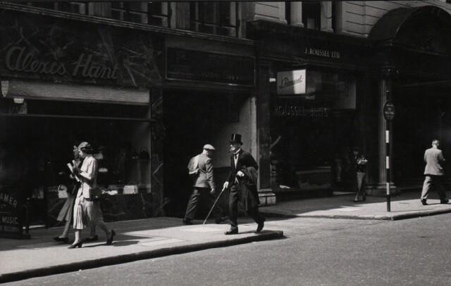 Риджент-стрит, Лондон, 1949. Фотограф Эрнст Хаас