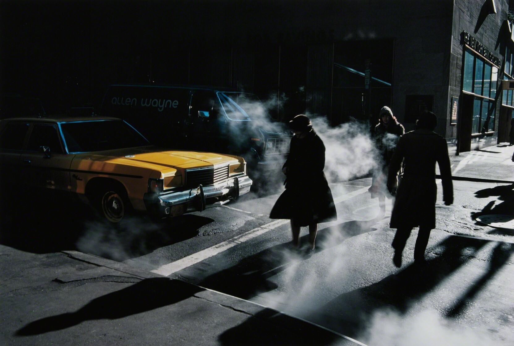 Пешеходный переход, Нью-Йорк, 1980. Фотограф Эрнст Хаас