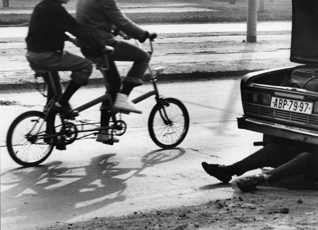 Велосипед-тандем. Фотограф Франтишек Досталь