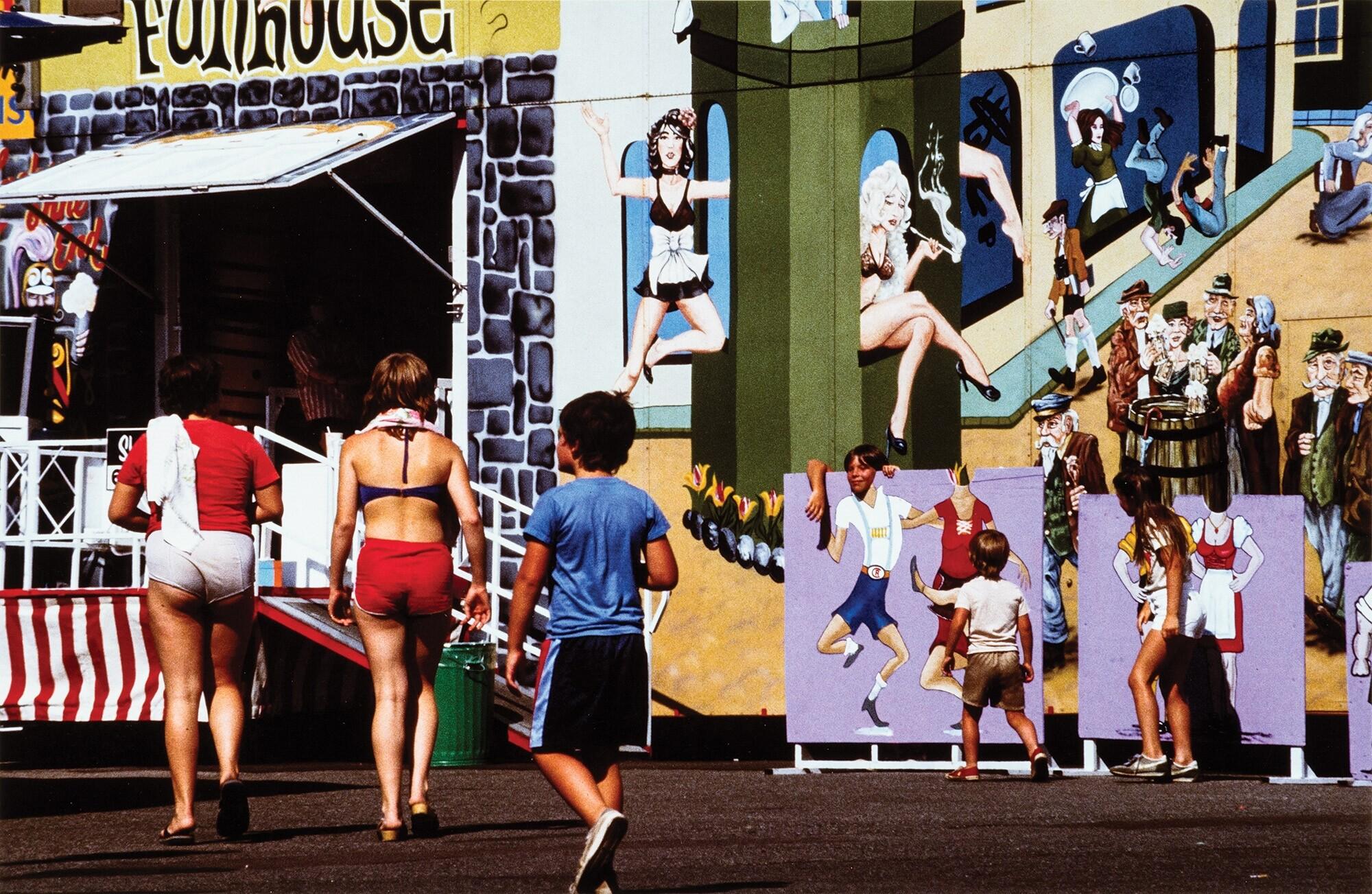 Люди в городе, 1982. Фотограф Франко Фонтана