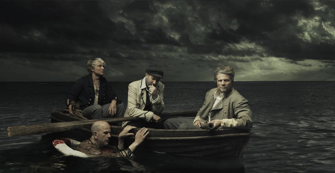 Трое в лодке. Обложка альбома рок-группы American Music Club. Автор Марк Хольтузен