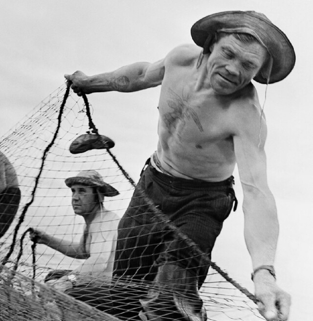 Ловля байкальского омуля, 1965. Фотограф Юрий Абрамочкин