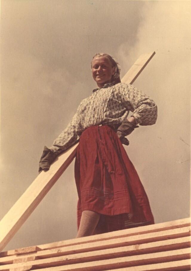 Девушка из Архангельска, 1950-е. Фотограф Семён Фридлянд
