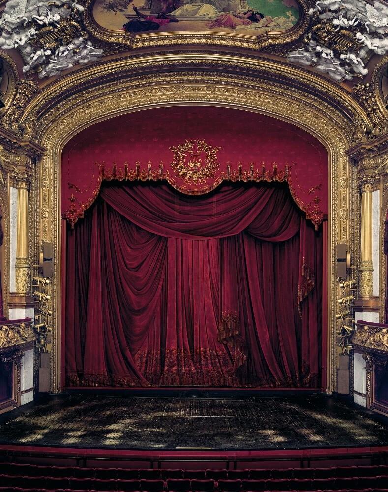 Занавес Королевской оперы в Стокгольме, Швеция, 2008 год. Фотограф Дэвид Левенти
