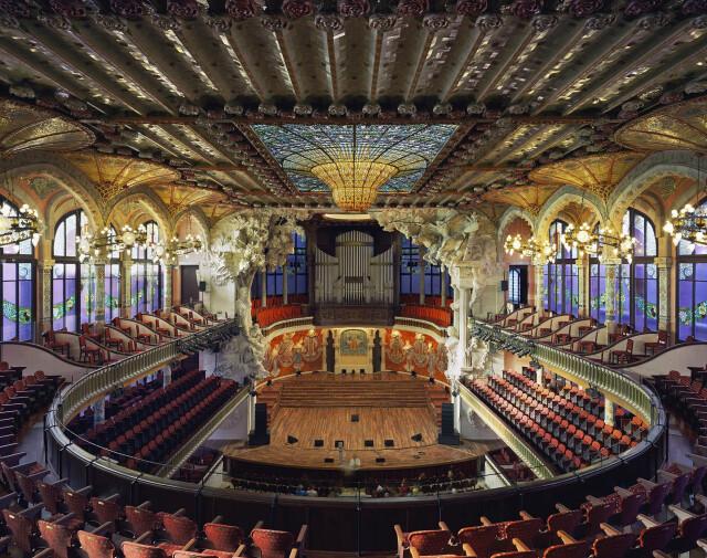 Дворец каталонской музыки, Барселона, Испания, 2009 год. Фотограф Дэвид Левенти