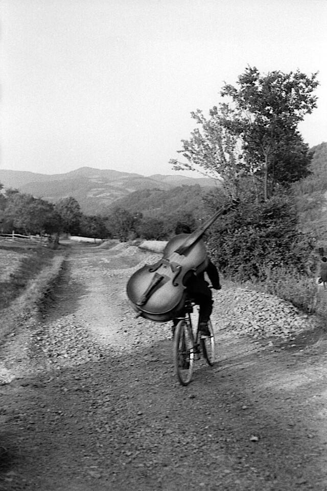 Музыкант, Сербия, 1965. Фотограф Анри Картье-Брессон