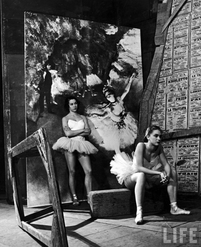 Балерины Денис Буржуа и Клод Бесси в Париже, 1949. Уолтер Сандерс