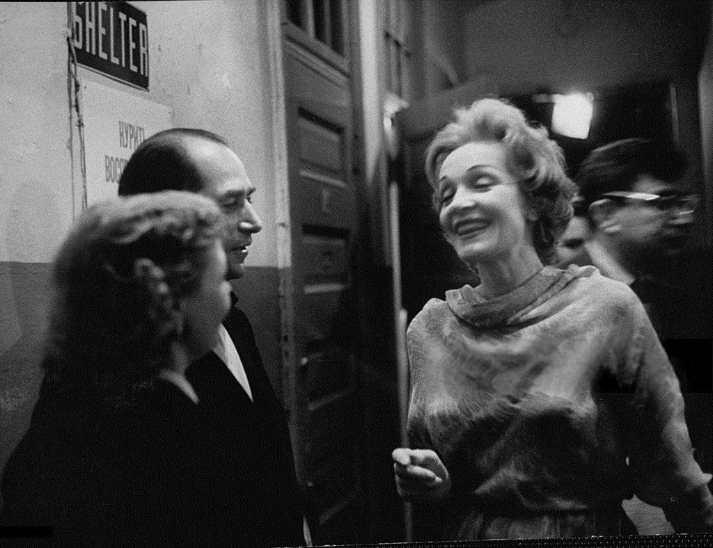 Марлен Дитрих и Игорь Моисеев в Нью-Йорке, 1958. Уолтер Сандерс