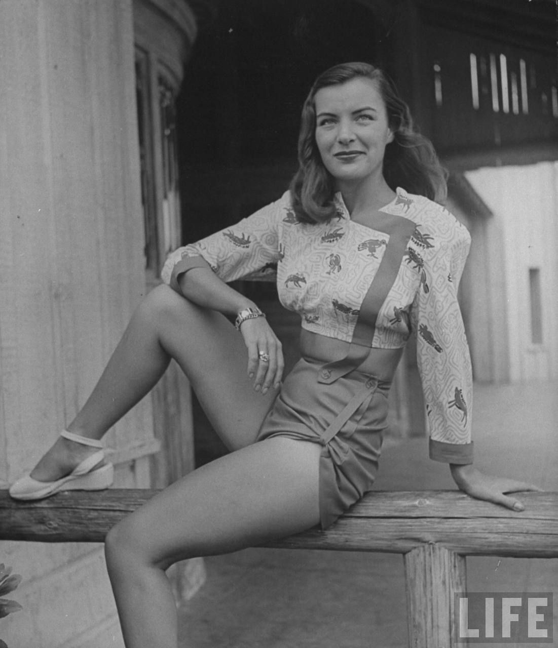Модный показ, США, 1945. Уолтер Сандерс