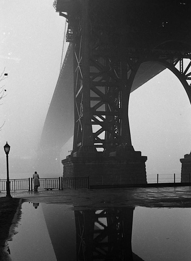 Туман в Нью-Йорке, 1950. Уолтер Сандерс