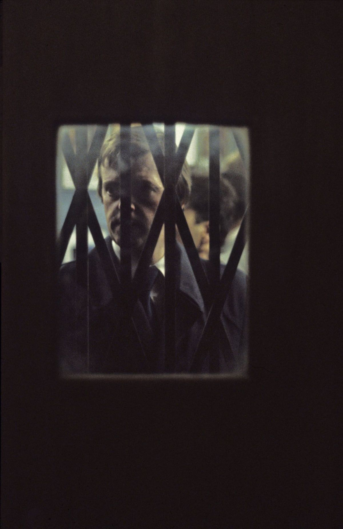Человек в метро. Лондон, 1980-е. Боб Маззер