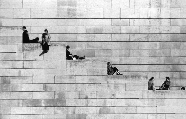 Диагональ, Париж, 1953. Фотограф Робер Дуано
