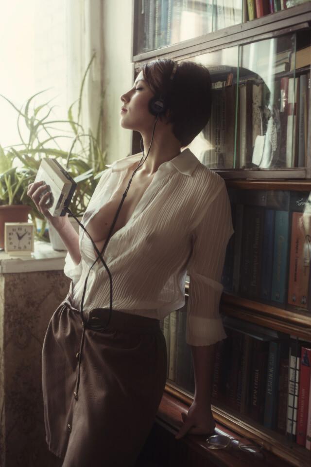 Софи и музыка. Фотограф Давид Дубницкий
