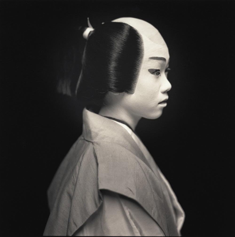 Актёры кабуки. Азуса Тукамото в роли Хейтаро. Хироси Ватанабэ