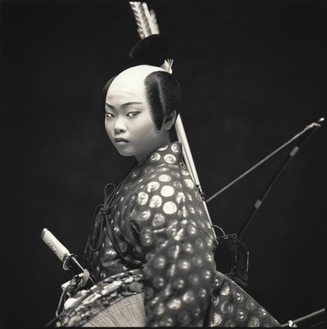 Актёры кабуки. Нацуки Тукамото в роли Токисуми. Хироси Ватанабэ