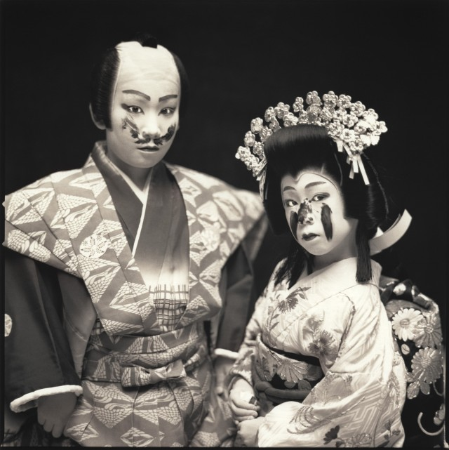 Актёры кабуки. Гаку Тада и Марина Эма. Хироси Ватанабэ