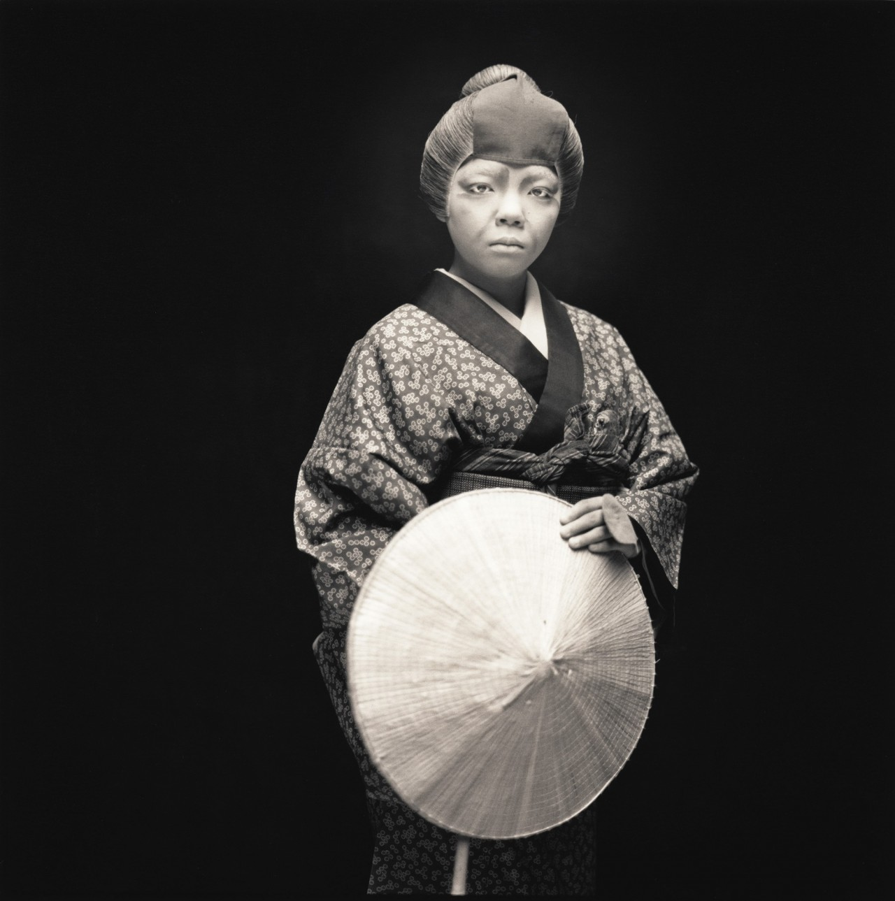 Актёры кабуки. Мио Тубаки в роли Такино. Хироси Ватанабэ