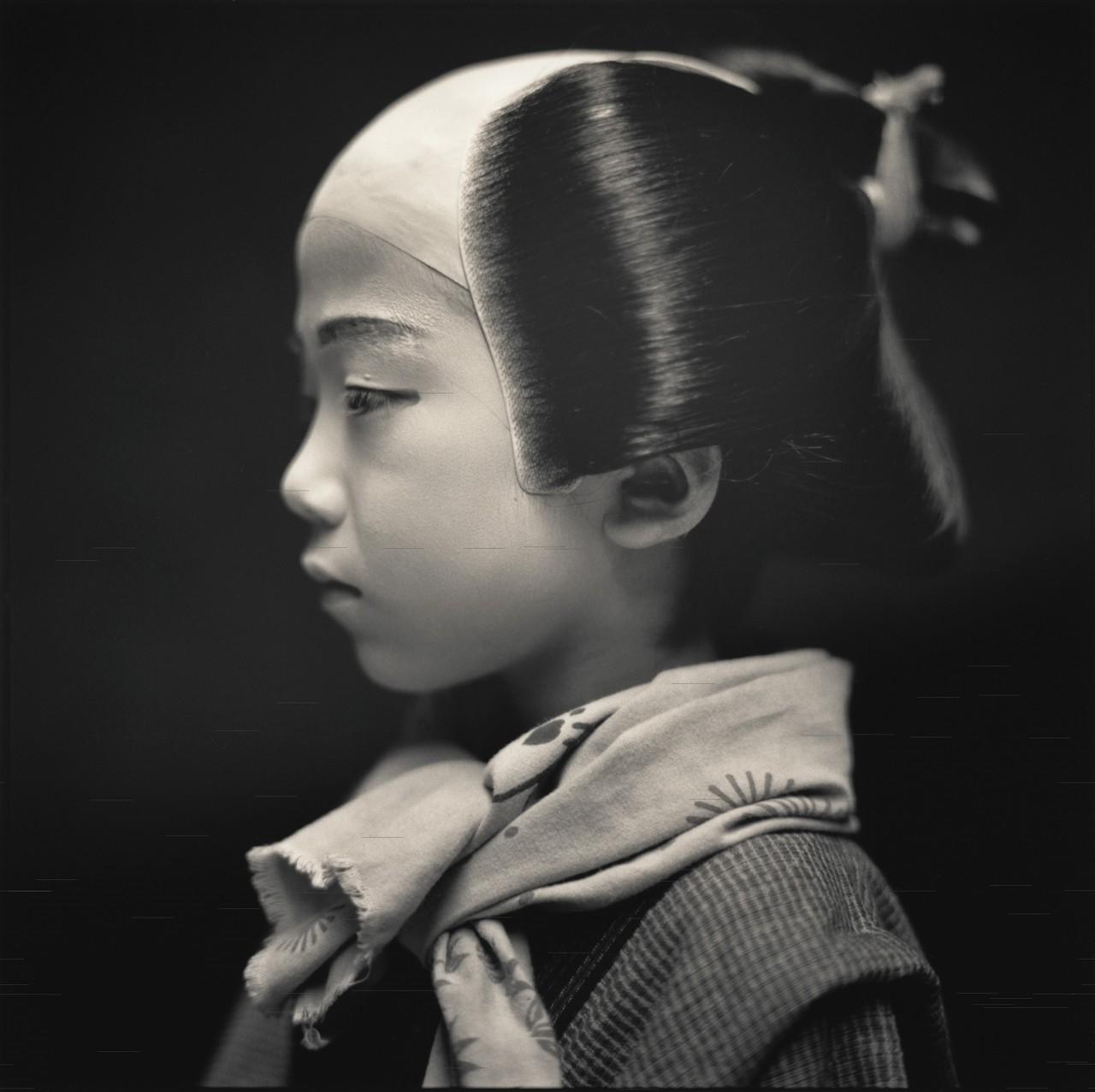 Актёры кабуки. Рё Уэгучи в роли Сендо. Хироси Ватанабэ