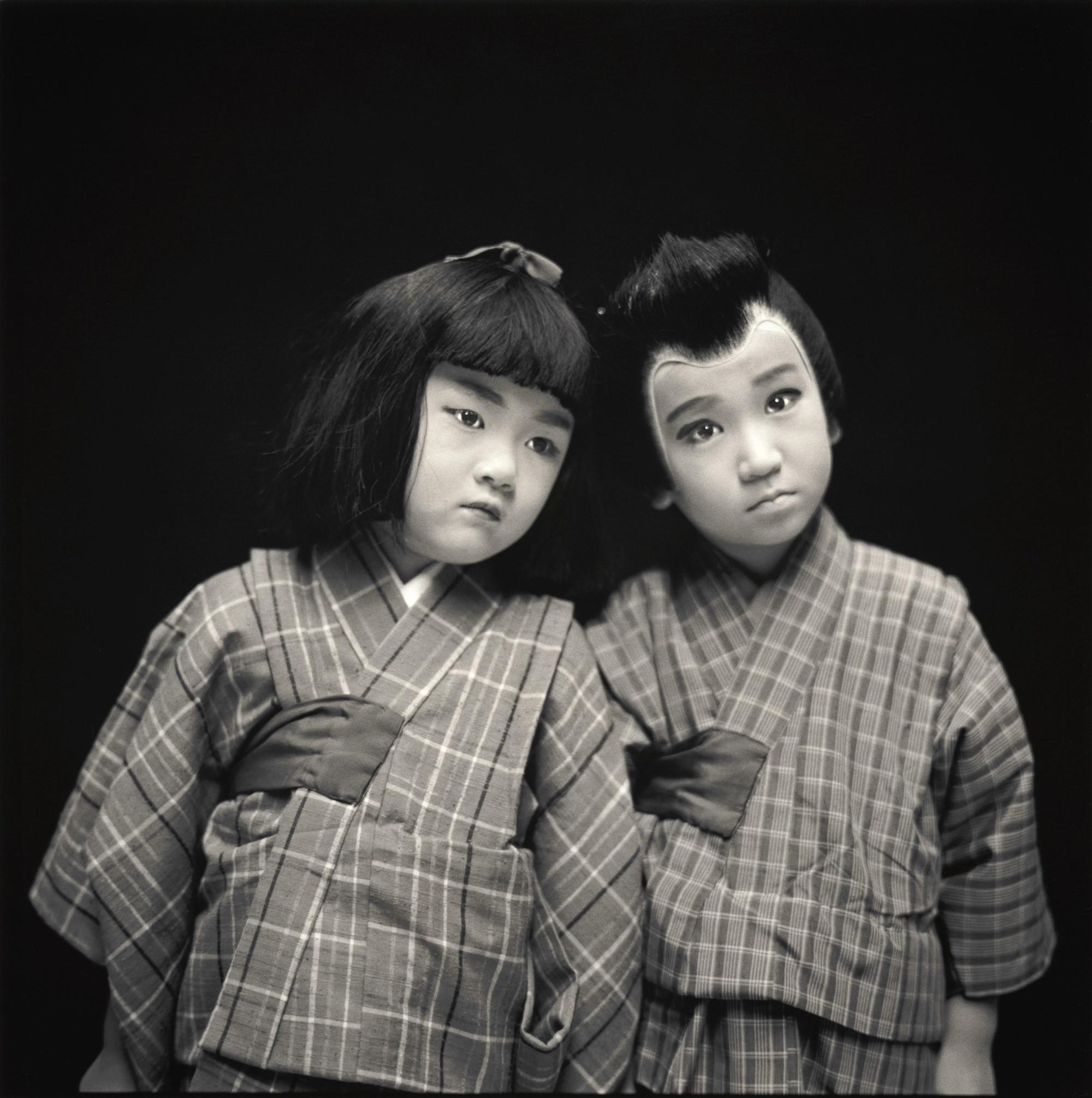 Актёры кабуки. Юка Онозаки и Икки Тада. Хироси Ватанабэ