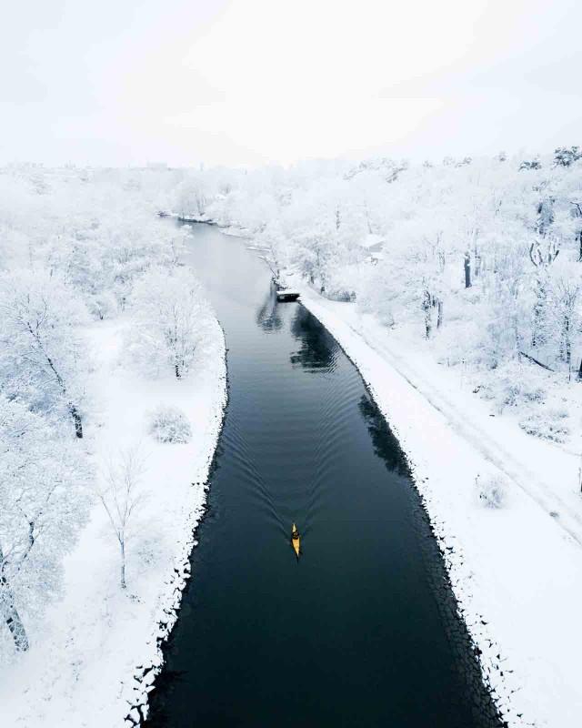Категория «На открытом воздухе». Зимнее весло, Стокгольм, Швеция. Автор Джеффри Киффер