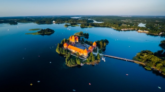 Тракайский островной замок, Литва. Фотограф Мариус Линаускас