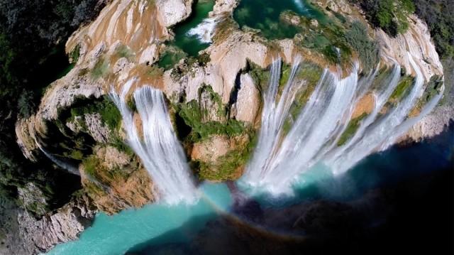 Водопад Тамул в штате Сан-Луис-Потоси, Мексика. Фотограф postandfly