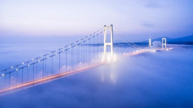 Мост в городе Муроран, Хоккайдо, Япония. Фотограф muroranyakei01