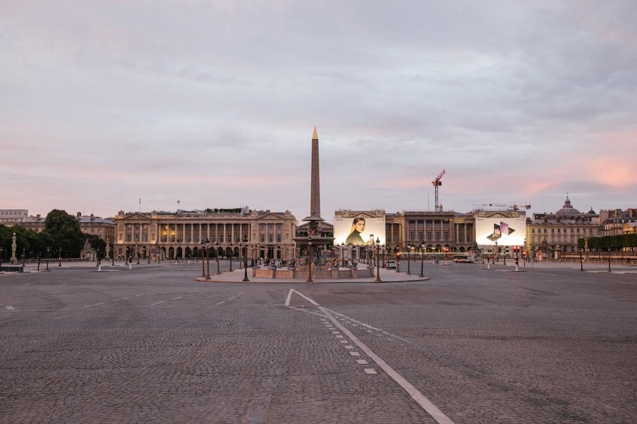 3 место в категории «Общие новости», серия, 2021. Пустынная площадь Согласия, одна из главных площадей Парижа, 8 мая 2020 года. Автор Лоуренс Ги