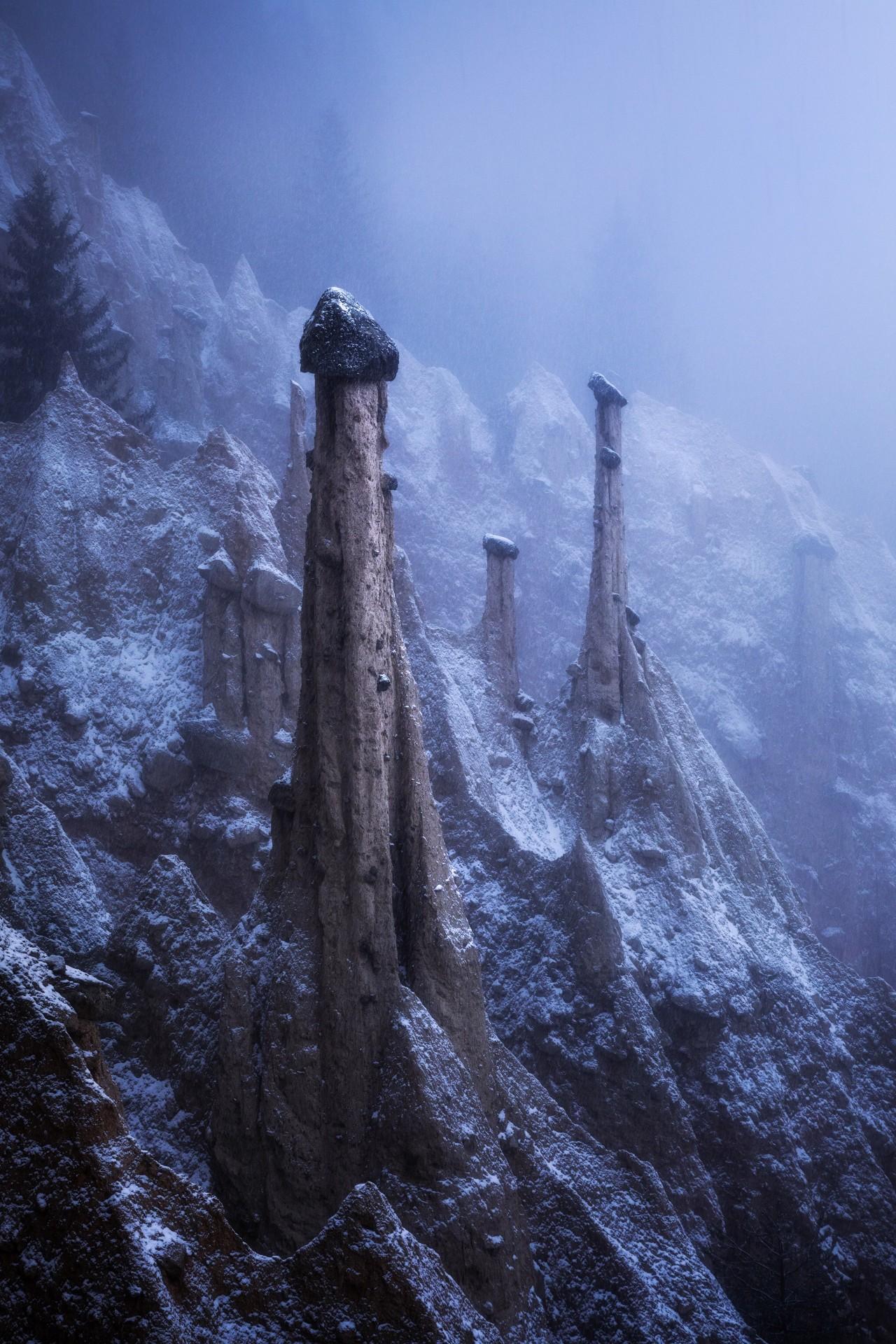 1 место в номинации «Пейзажный фотограф года» 2020. Инопланетный пейзаж, Доломиты, Италия. Автор Кельвин Юэнь