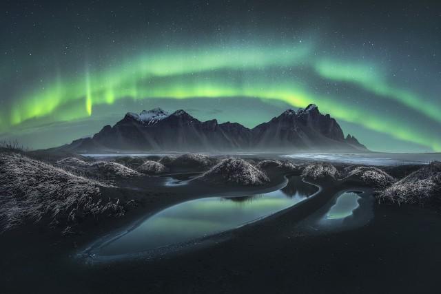 Северное сияние, Вестрахорн, Исландия. Финалист, 2019. Автор Нико Ринальди