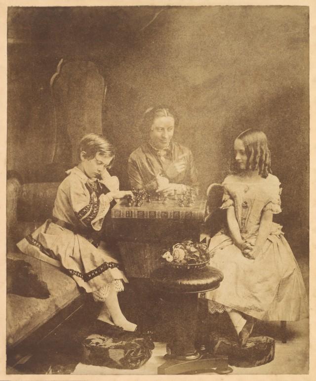 «Детский мат» (шахматы), 1855. Автор Оскар Густав Рейландер
