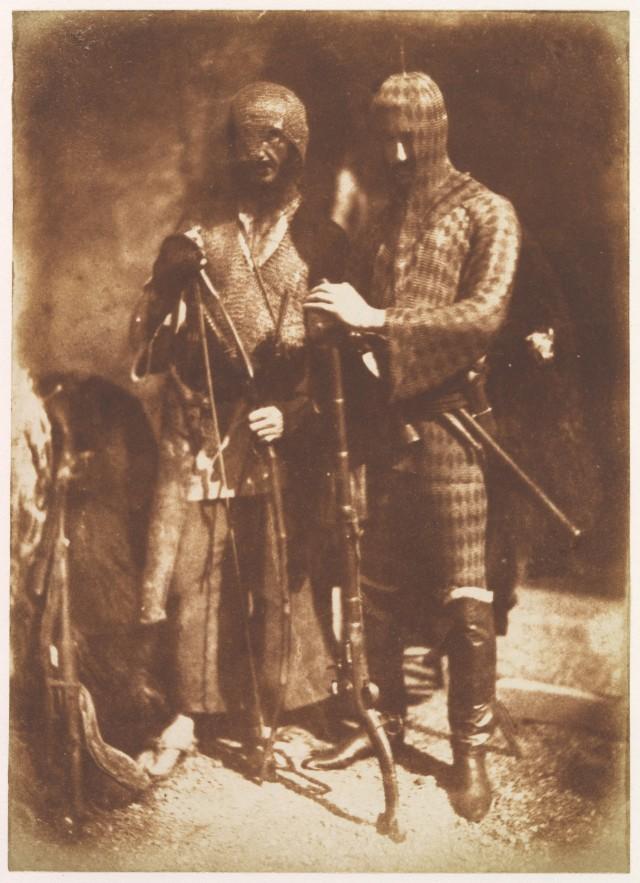 Афганцы в доспехах, 1843. Авторы художник Дэвид Октавиус Хилл и химик Роберт Адамсон