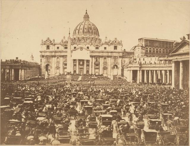 Благословение папы в пасхальное воскресенье, 1880-е. Автор неизвестен