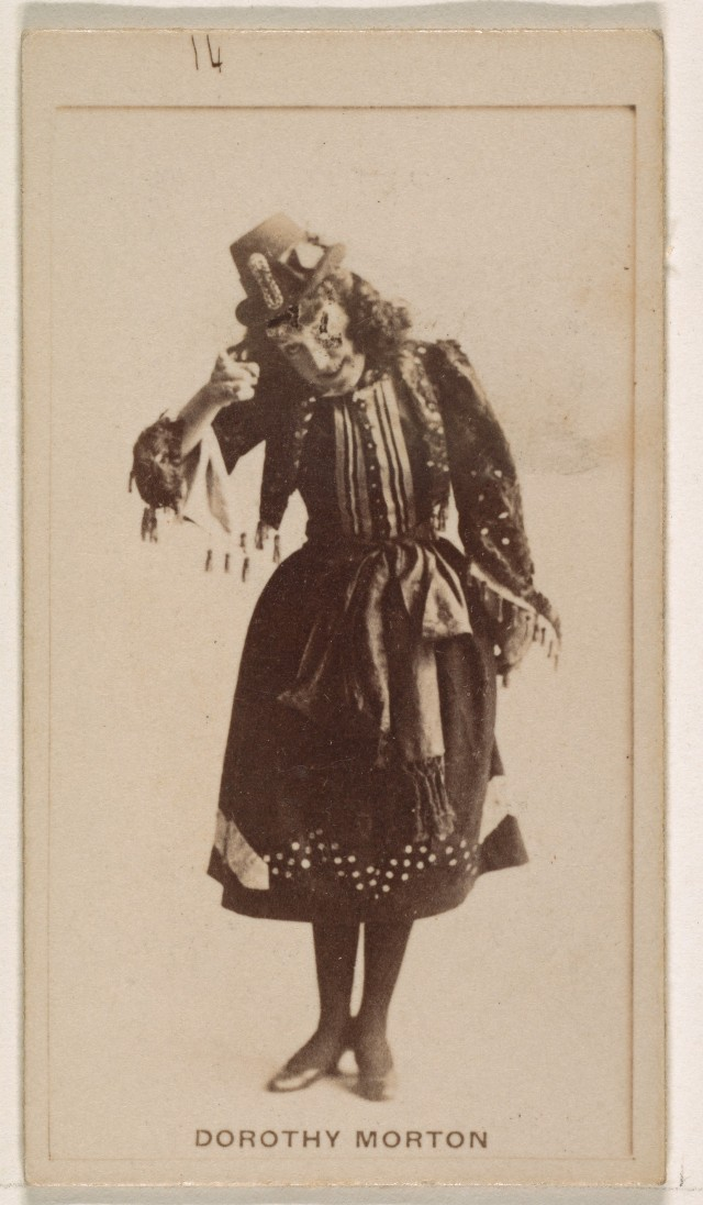 Дороти Мортон из серии торговых карточек «Актрисы» для рекламы сигарет, 1890. Табачная компания Братья Кинни