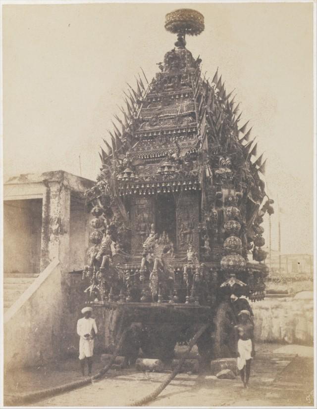 Колесница Джаганнатхи в Мадрасе (Ченнаи), 1850-е. Автор Фредерик Фибиг