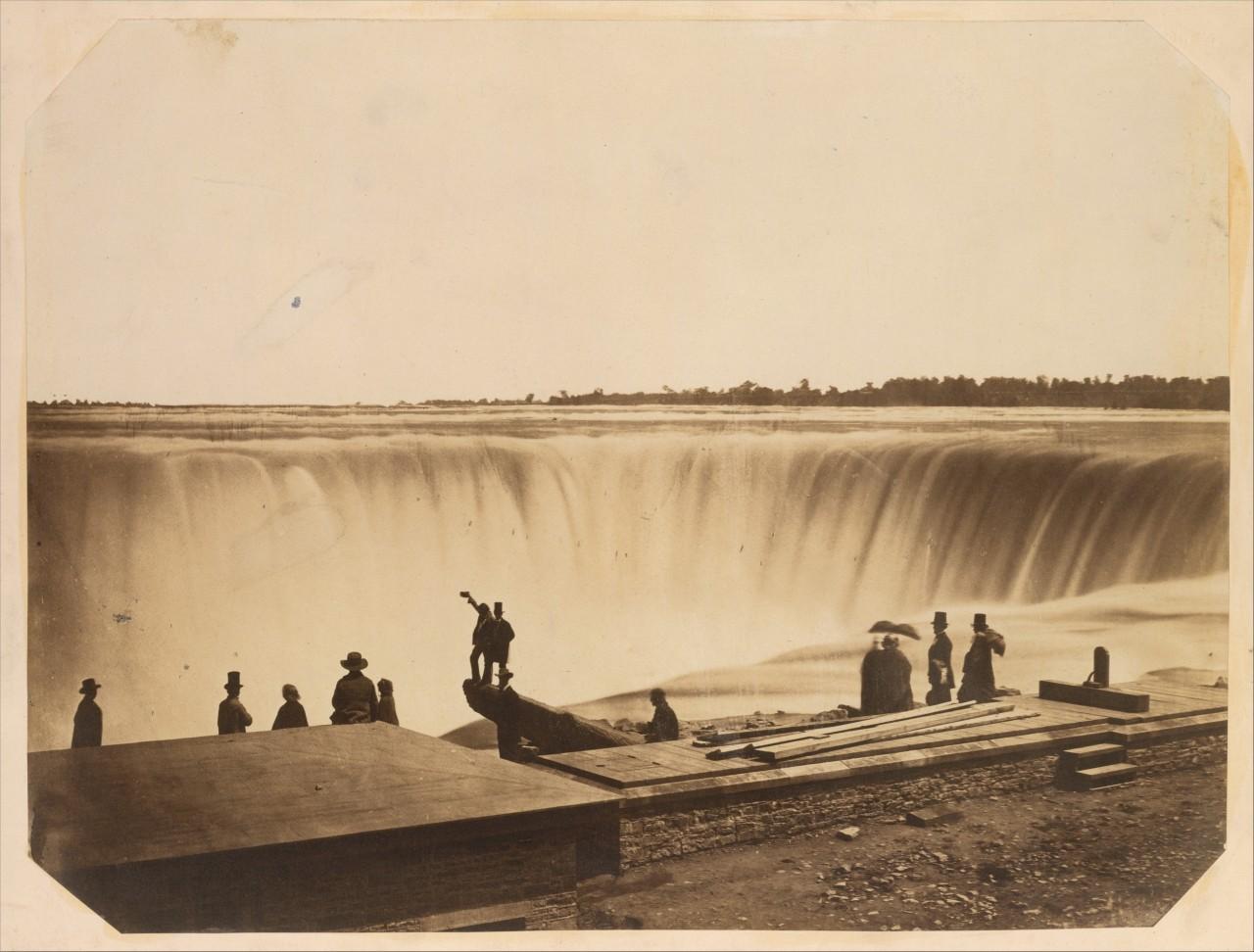 Ниагарский водопад, вид с канадской стороны, 1855. Автор предположительно Сайлас А. Холмс