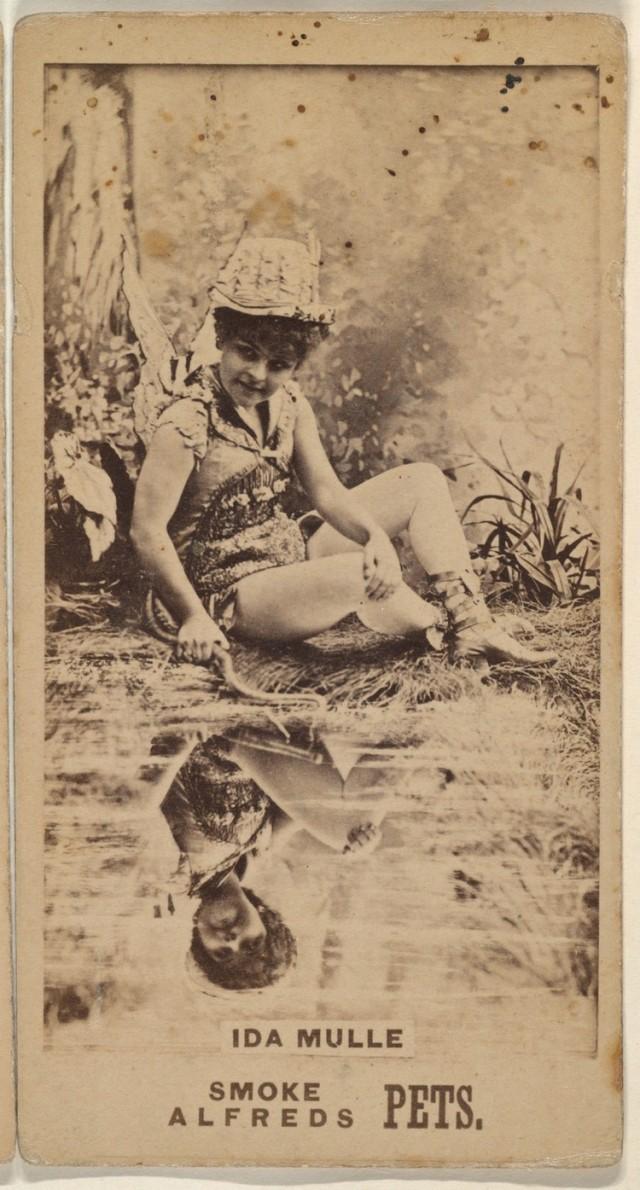 Ида Мюлле из серии торговых карточек «Актрисы» для рекламы табака, 1888